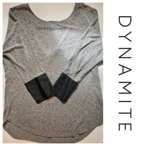 Dynamite 3/4 Sleeve Grey Top !